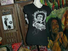 ZION ROOTSWEAR Sharp Jet Black Bob Marley Tee Shirt Size S - $8.91