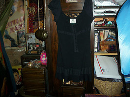 ANTHROPOLOGIE MONAHMOUR Charming Jet Black Dress Size XS/S - $14.85