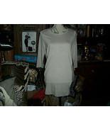 BY HELLEN AND MONETA Pretty Soft Cocoa Silk Blend Blouse Size L - $13.86