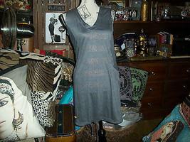 ANNIKA OLSEN Cool Heather Metallic Gray Drawstring Dress Size 8 - $15.84