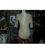 LINEAMAGLIA ITALY Wonderful Tan Knit Sweater Blouse Size S - $13.86