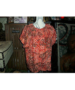 WHITLEY KROS Cute Orange Silk Blouse Size M - $12.87