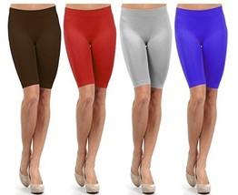 Fashion Mic Women Girls Seamless Slip Short (One Size, 4 pack: brow... - $31.66