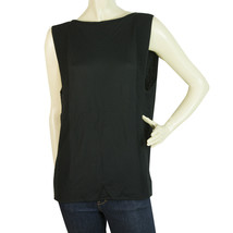 Surface to air Black Viscose Tank Sleeveless Top Blouse size 36 - $66.85