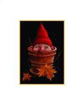Potted Gnome cross stitch chart Mystic Stitch - $14.40