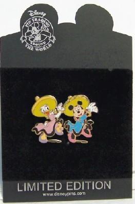Disney CINCO DE MAYO DAISY & MINNIE SOMBRERO LE 250 pin new