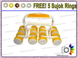 Brand New 16 Acupressure Massage Therapy  Wheel Power Roll Massager - $207,20 MXN