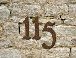 Set of 10 Rustic House Numbers or Letters / 2 Inch up to 8 Inch / Metal  - £49.20 GBP+