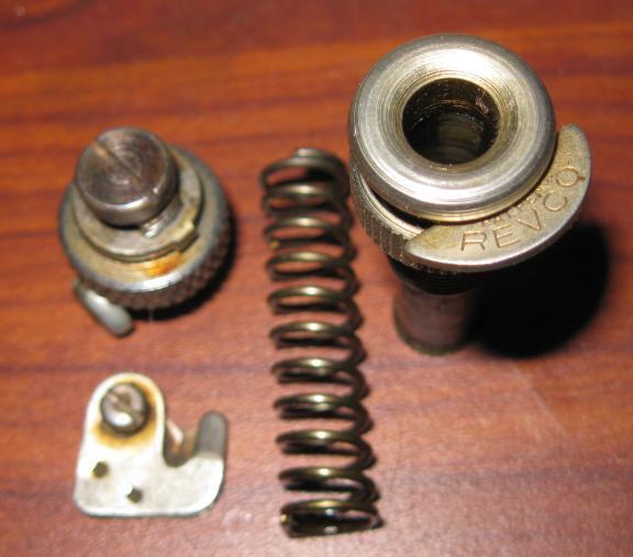 White Rotary Presser Bar Foot Clamp, Thumb Cap, Thread Cutter & Spring