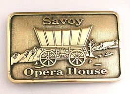 Old West Savoy Opera House Solid Brass Belt Buckle - $34.99