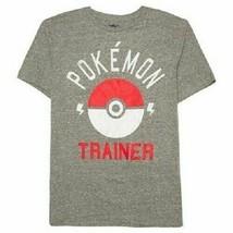 Pokemon Men's Trainer T-Shirt Charcoal Size Large NWT - $11.99