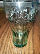 Coca Cola Coke Original Blue Green Contour 16 oz Drinking Glasses Soda Pop - $10.00