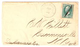 1883 Kingsville, OH Vintage Post Office Postal Cover - $7.99