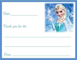 Disney's Frozen Custom Thank You or Note Cards Flat Fill In #7 - $10.39