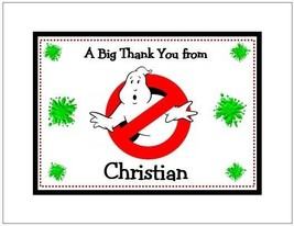 Ghostbusters Personalized Note/Thank You Cards Style #3 - $10.99