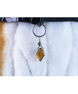 Dog collar charm wire wrapped Diamond Eye, handmade for people or pets - $7.00