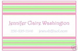 Preppy Stripes Enclosure Card or Gift Tags~Personalized - $10.39