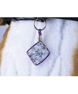 Dog collar charm wire wrapped Diamond Bling, ha... - $16.00