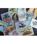 Lot of 13 Vintage BIRDS DIE CUTS for Card MakingCrafts - FREE SHIP BB13 - $4.34