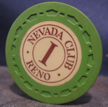 """1954 Roulette Casino Chip From: """"The Nevada Club""""- (sku#3511) - $3.99"""