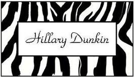 Zebra Animal Print Personalized Enclosure~Gift Cards - $10.39