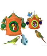 """""""Snooze & Play"""" Bird Roosting Hut & Chew Toy Co... - $35.50 - $42.50"""