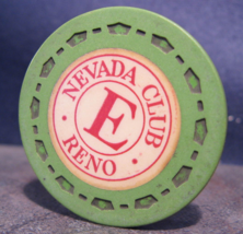 """1954 Roulette Casino Chip From: """"The Nevada Club""""- (sku#3518) - $3.99"""