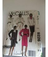 MCCALLS PATTERN 9226 DIAHANN CARROLL TV DYNASTY COLLECTION NOLAN MILLER ... - $19.31