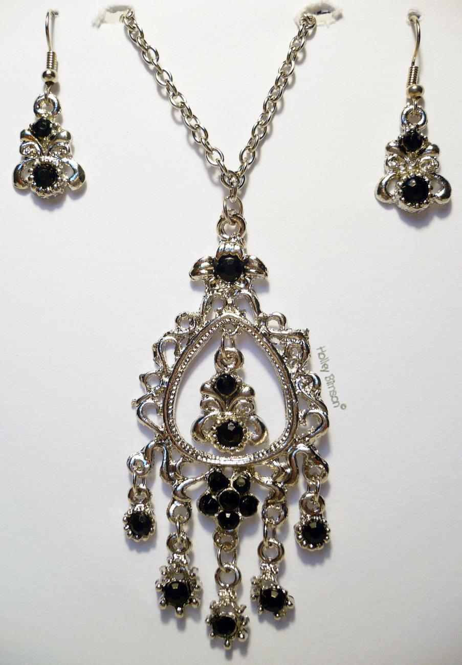 Rhinestone Necklace/Earring Combo # 2 Buyers Choice Bonanza