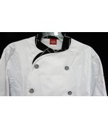 Dickies Executive CW070303CHC Chef Coat Blk White STITCH Trim Button 42 New - $25.45