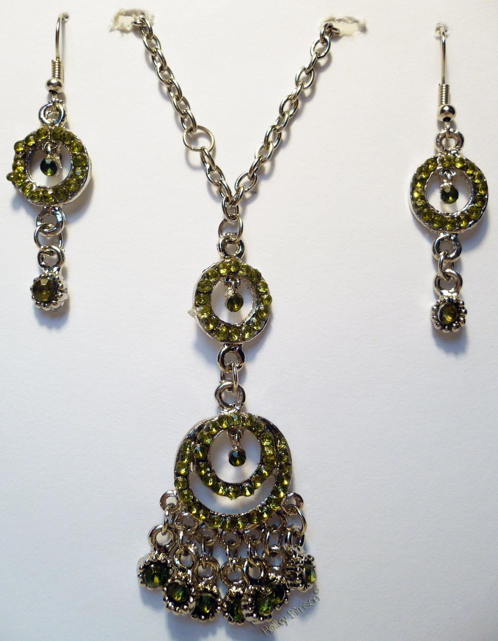 Rhinestone Necklace/Earring Combo # 5 Buyers Choice Bonanza