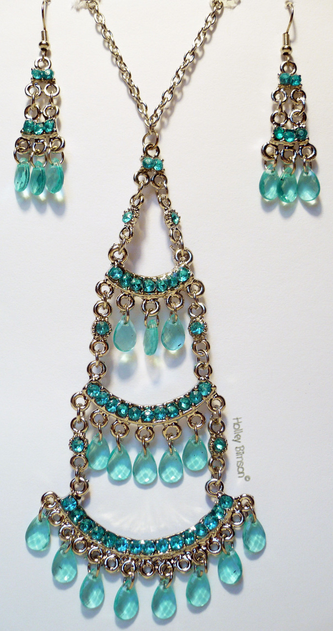 Rhinestone Necklace/Earring Combo # 3 Buyers choice Bonanza