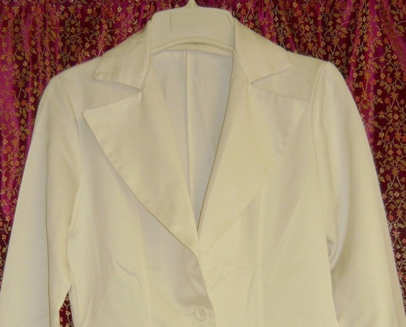 70'S  Disco Fever White Blazer/Jacket sz.  S/M