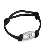 Relay for Life Cancer Awareness Hope Adjustable Black Nylon Bracelet New - $9.77