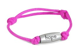Relay for Life Cancer Awareness Engraved Hope Pink Adjustable Nylon Brac... - $9.77