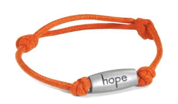 Relay for Life Cancer Engraved Hope Orange Adjustable Nylon Bracelet New