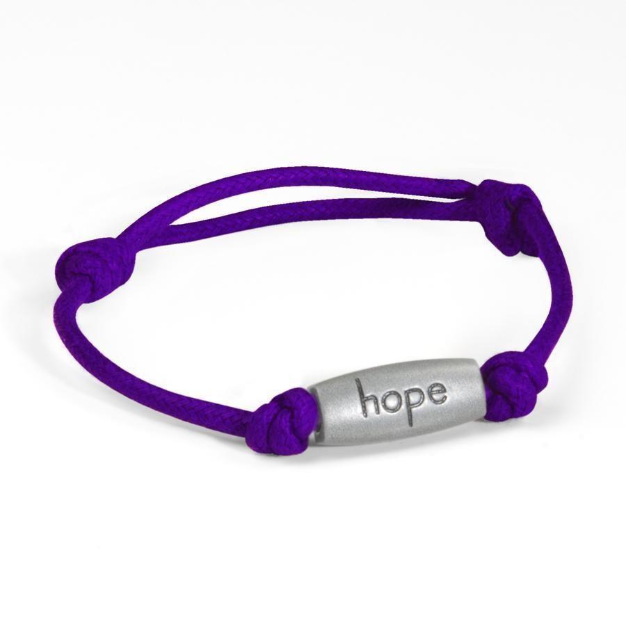 Relay for Life Cancer Engraved Hope Purple Adjustable Nylon Bracelet New