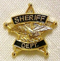 Sheriff Department Tie Tac 5 Point Star Eagle Officer Premier No Stone P... - $15.81