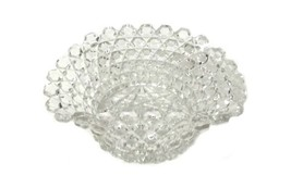 Vintage Clear Crystal Hexagon Scalloped Ruffled Edge Candy Glass Bowl Dish - $29.37