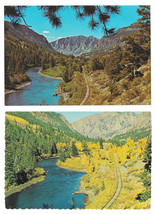 CO Rio Grande River Between Creede and South Fork 2 Vintage 4X6 Postcards - $4.99