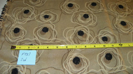 Beige Black Abstract Dot Print Chenille Upholstery Fabric 1 Yard  F987 - $28.78