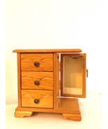 Wooden 3 Drawer Jewelry Box With Swing Side Storage & Ring Holder - €8,90 EUR