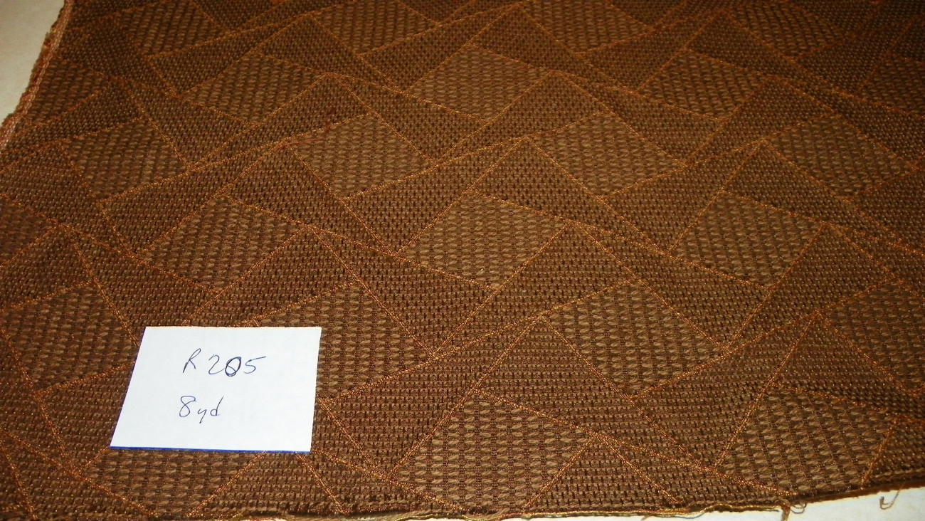 Primary image for Brown Abstract Print Damask Upholstery Fabric 1 Yard  R205