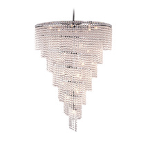 "AM2900:  Spiral 7-Tier Clear Crystal Glass Chandelier (12""-36"" Diameter)... - $1,250.00"