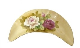 Vintage Lefton China 563 Decorative Crescent Floral Porcelain Trinket Dish - $39.17