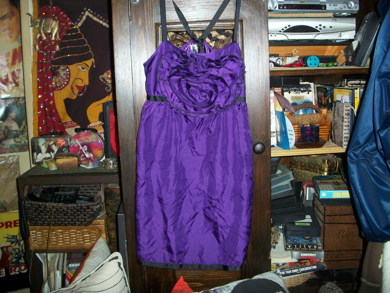 Primary image for LIPSY Lovely Deep Purple Silk Baby Doll Dress Size XS/S