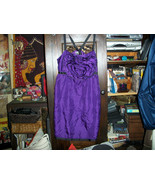 LIPSY Lovely Deep Purple Silk Baby Doll Dress Size XS/S - $21.78