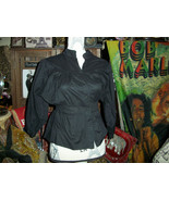 SALT & PEPPER Trendy Jet Black Button Down Blouse Size S - $9.90