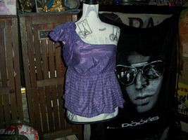 ZAWARY Sweet Purple Off The Shoulder Top Size S - $9.90
