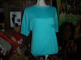DIANE VON FURSTENBERG  Cute Blue Blouse Size M - $11.88